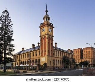 facade of historic Customs house building in Newcastle, Australia, which is a hotel in downtown
