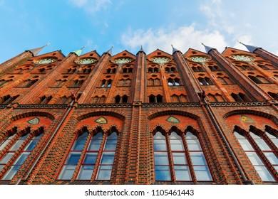 facade of the historical city hall of Stralsund, Germany