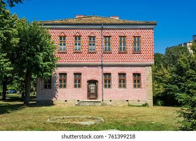 Facade of the historical museum in Targovishte (Bulgaria)