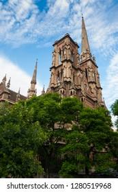 Facade of Iglesia del Sagrado Corazon, Cordoba, Argentina, South America
