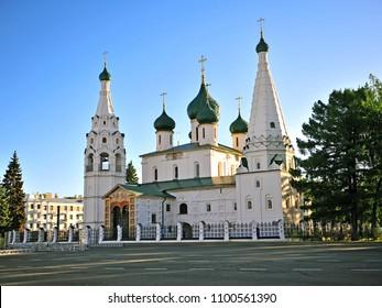 Facade of Ilya Prophet church, Yaroslavl, Russia