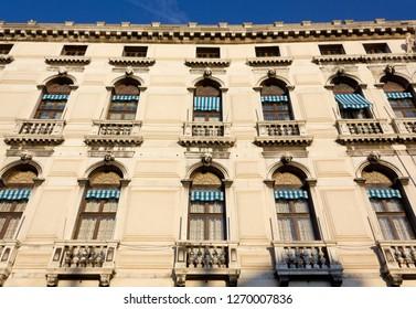 Facade of Labia Palace in Venice, Italy