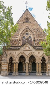 The facade of the magnificent Pilgrim Uniting Church in Adelaide, Southern Australia