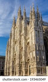 Facade of Milan Cathedral, Italy