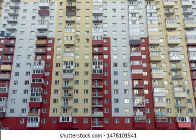 Facade of a modern apartament building