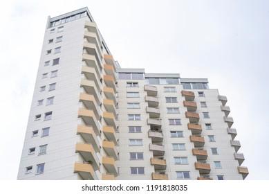 Facade of a modern appartement building
