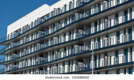 Facade of a modern appartment building