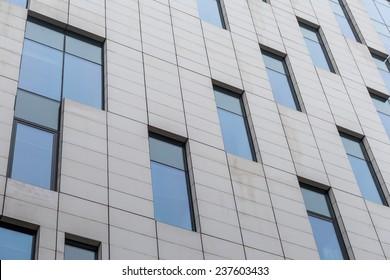 Facade of modern building.