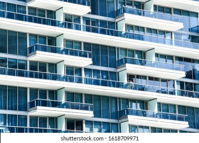 facade of modern building, photo as a background modern building in miami city florida usa america