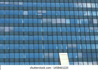 Facade of a modern office building in Berlin