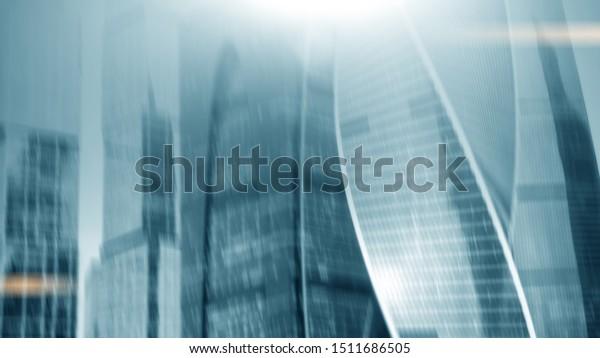 Facade Modern Office Building Concept Contemporary Stock Photo