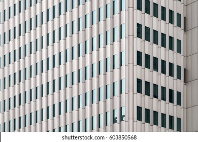 Facade of Modern Skyscrapers and Office Buildings