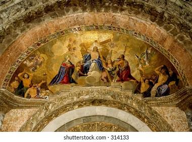 Facade Mosaics at 1 of the 5 entrances of Basilica San Marco
