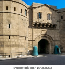 Facade of National Military Museum with visitors departing, Citadel of Cairo, Salah El Din Al Ayouby Citadel, Cairo, Egypt