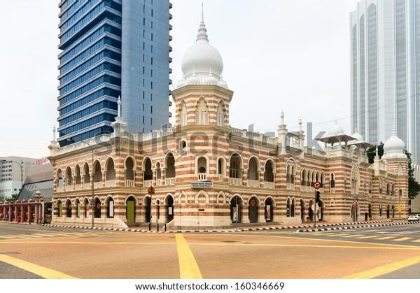 Façade du musée national du textile à Kuala Lumpur, Malaisie