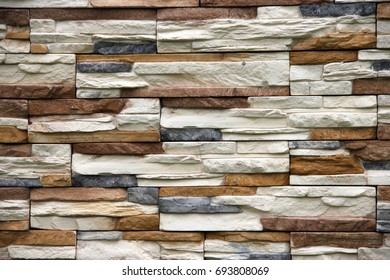 Facade of natural stone background