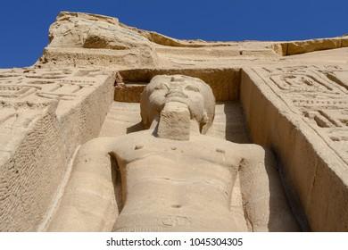 Facade of Nefertari temple, Abu Simbel, Egypt