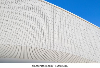 Facade of the new art, technologies and architecture museum in Lisbon