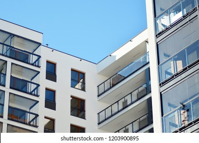 Facade of new residential building