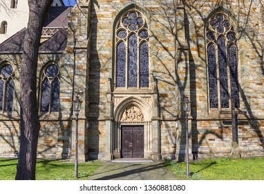Facade of the Nicolai church in Lippstadt, Germany