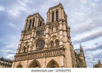Facade of Notre Dame Cathedral, France