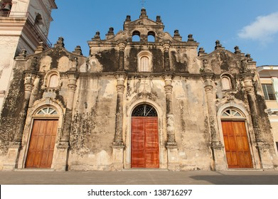 Facade of, La Merced, one of the oldest churches in South America