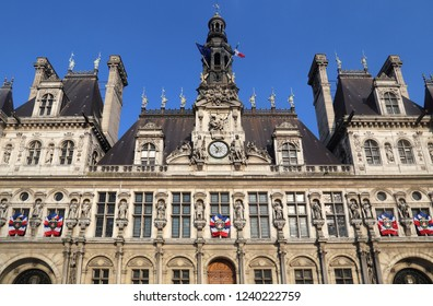 Facade of the old city hall of Paris, France