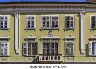 Facade of an old fine style building in Gorizia