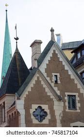 facade of an old house in Tallinn, Estonia