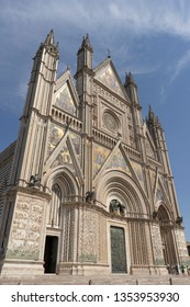 Facade of Orvieto Cathedral in Italy
