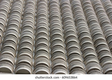 Facade pattern design. Thai building. Architecture view. Abstract.