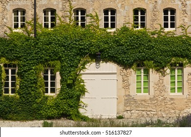 Facade of the Provencal house, France