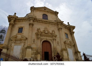 Facade of Purgatory Church, Chiesa del Purgatorio, Ragusa Ibla, Sicily, Italy, Europe, Baroque