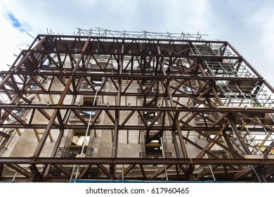 Facade refurbishment with structural support
