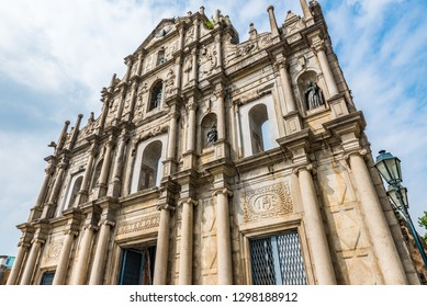 Facade of the Ruins of St. Paul's in Macau, China.
