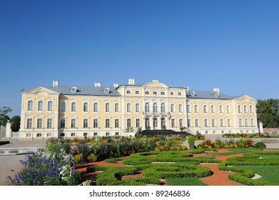 Facade of the Rundale palace