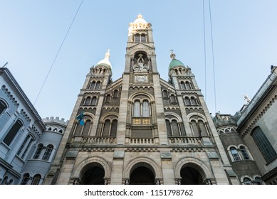 Facade of Santísimo Sacramento Church in Buenos Aires, Argentina