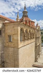 Facade of the Saint Goncalo church in Amarante, Portugal