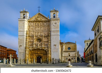 Facade of the San Pable Church (15th Century) in Valladolid, Castile and Leon, Spain.