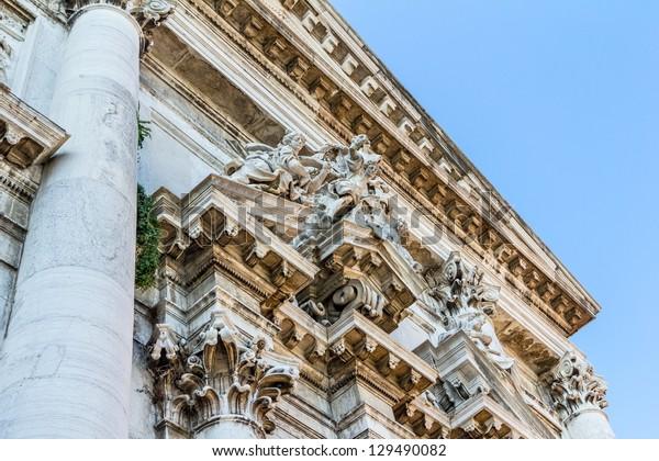 Facade of San Stae church in Venice.