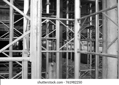 facade with scaffolding