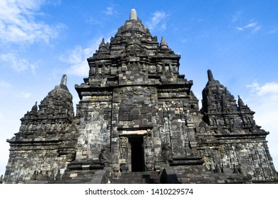 Facade of Sewu Temple. It is located in Complex of Prambanan Temple, Jogjakarta. Sewu Temple is one of Buddhism Temple in Jogjakarta.
