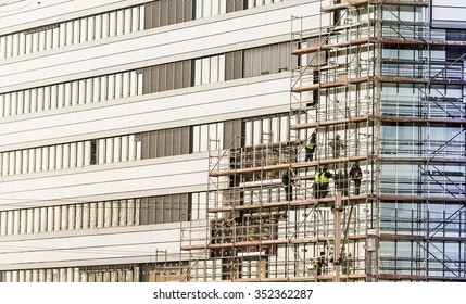 Facade thermal insulation works