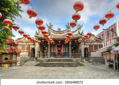 facade of tianhou temple in Penghu island, Taiwan