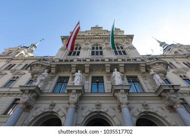 facade townhall graz, austria