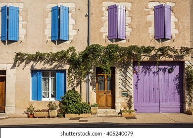 Facade of a traditional building in Provence, France