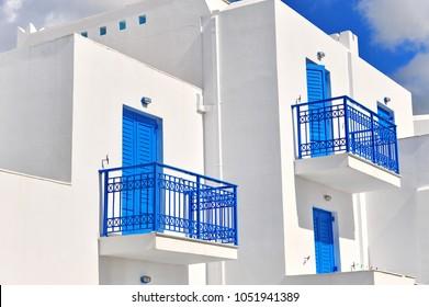 Facade of traditional greek house, Naxos island