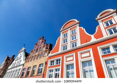 Facade of traditional houses in Lüneburg, Germany