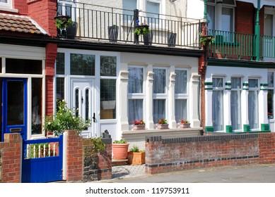 Facade of a typical English house