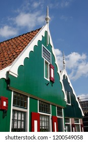 Facade of a typical house in Holland, Europe